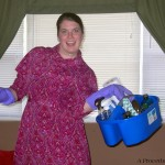Crazy cleaning lady!