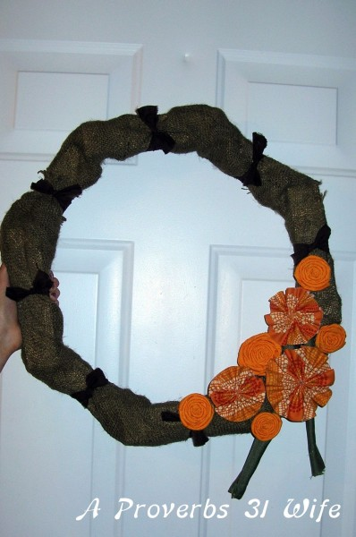 fall wreath on a budget