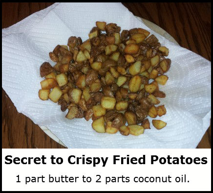 secret to crispy fried potatoes