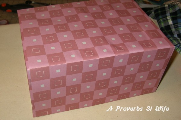 Wrapped decor box