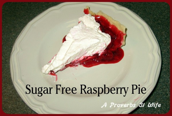 Sugar free raspberry pie
