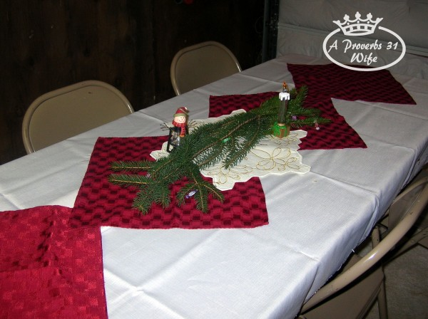 Simple decor for a Christmas Party