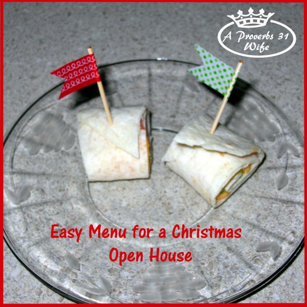 Simple Menu for a Christmas Party