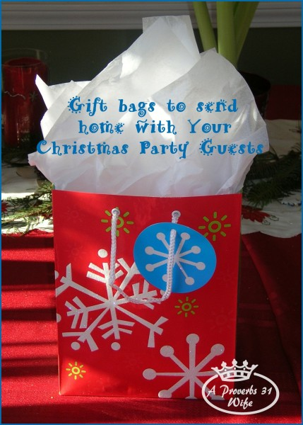 Gift bags to send home with your Christmas party guests