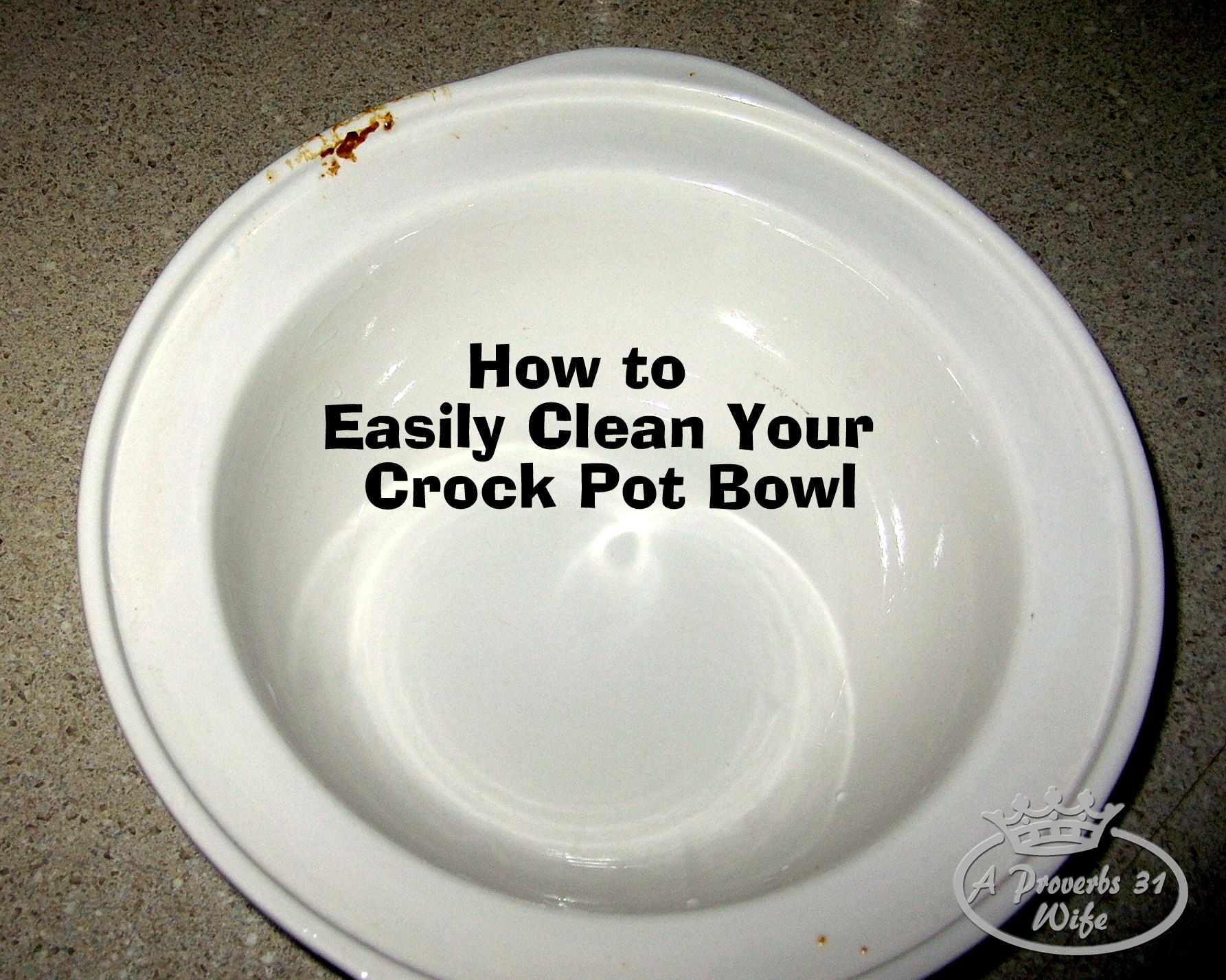 Easy way to clean my crock pot