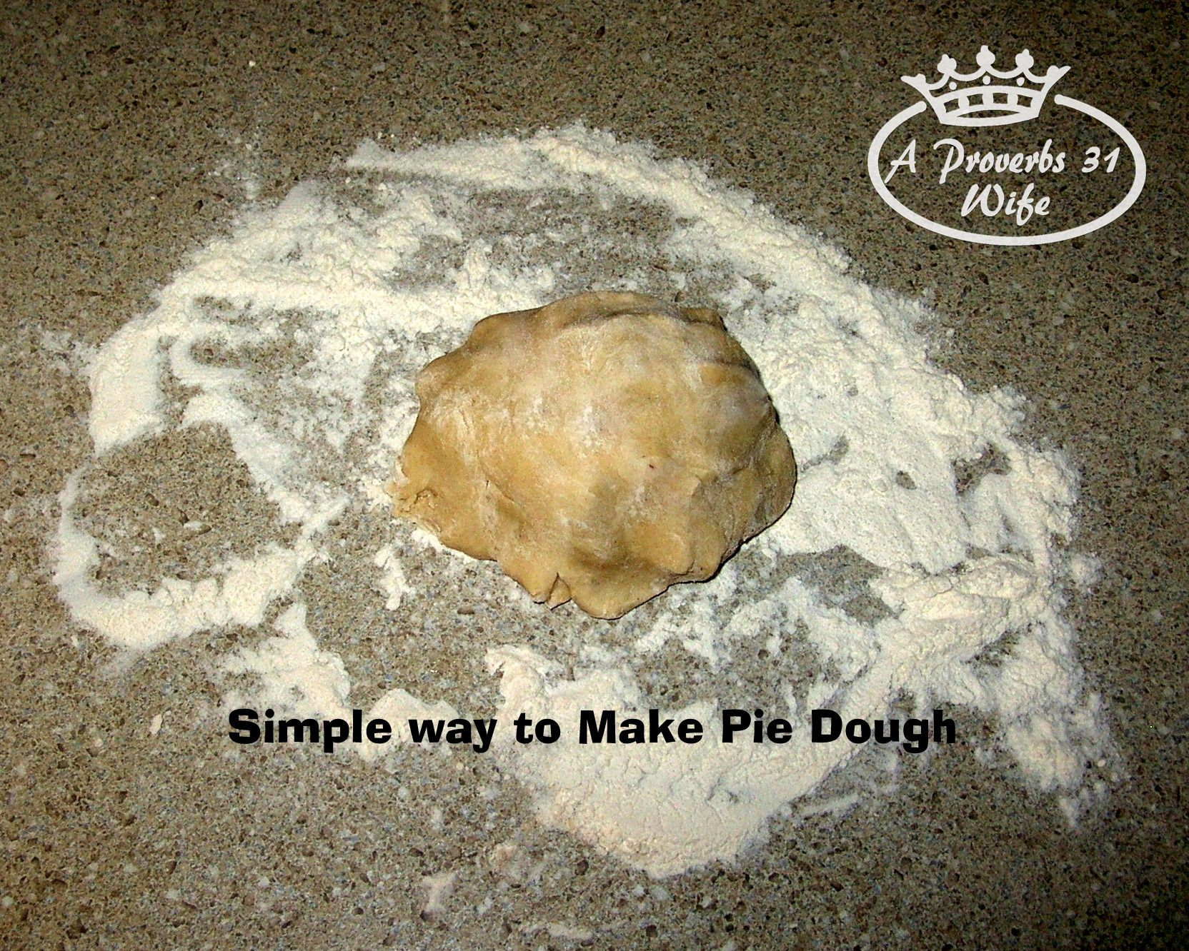 Quick and easy pie dough