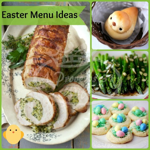 Easter Recipe roundup. Ideas for your Easter menu! #Easter #menu #recipes