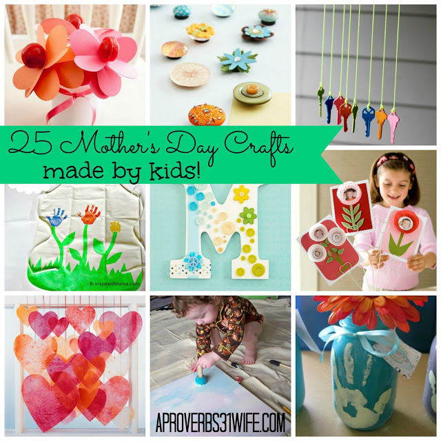 25 Mother's Day Crafts made by Kids!