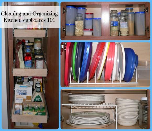 Cleaning and Organizing Kitchen cabinets 101. #kitchen #organize #cleaning