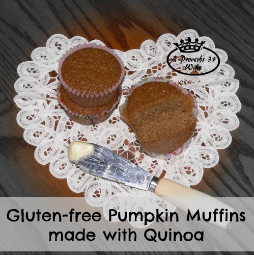 Quinoa pumpkin muffin recipe, naturally gluten free! #quinoa #recipe #glutenfree
