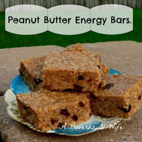 Peanut Butter Bars ~ A No-bake Energy Bar Recipe
