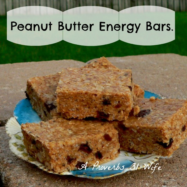 Peanut Butter Bars ~ A No-bake Energy Bar Recipe.