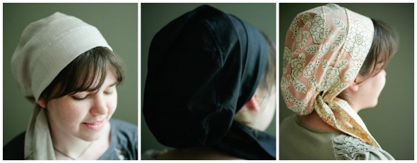 Snood style headcoverings made by sowers of hope.