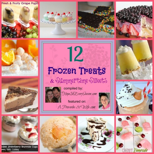 12 Different Frozen Treats and Summer Sweets for your family to try! #kidtreats #summertreats #popcicles