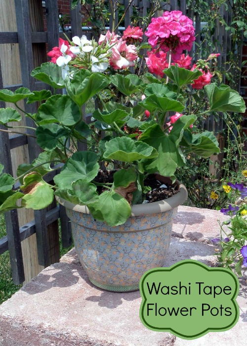 Washi Tape Flower Pots ~Making Old Things Pretty
