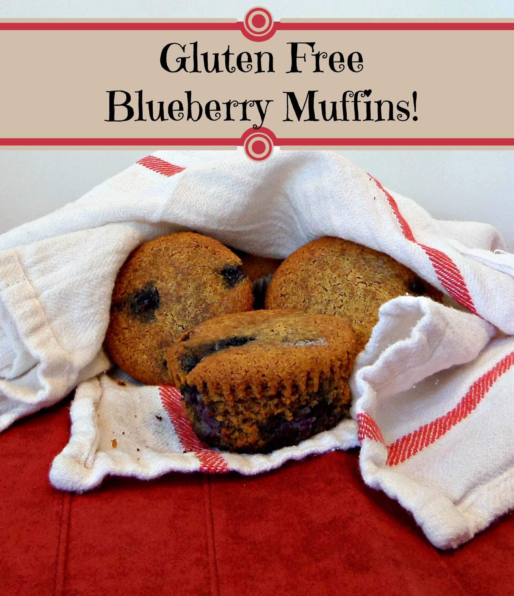 Gluten Free Blueberry Muffins ~Made with Almond Flour