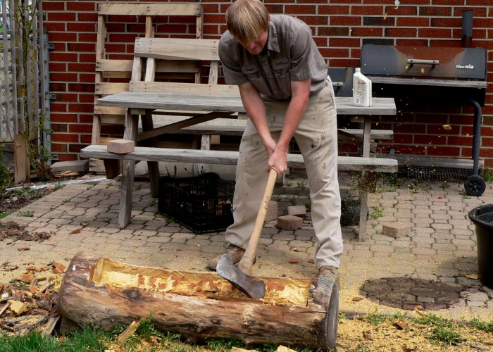 Making a log planter takes a bit of work  but the results are amazing!