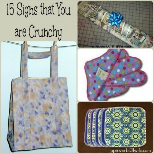 15 Signs that you are crunchy!