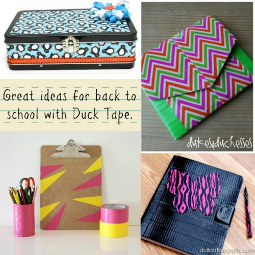 Fun and creative ways to send your child back to school with Duck Tape® creativity!  #backtoschool #ducktape #ducktapeschoolprojects