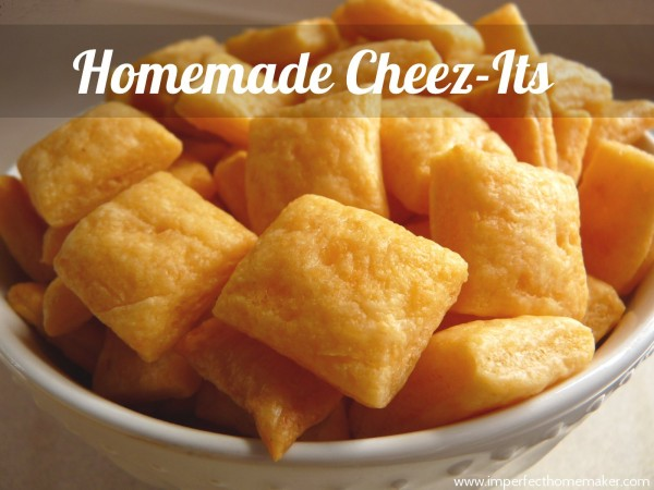 Healthy snacks, made easy with homemade cheez-its!