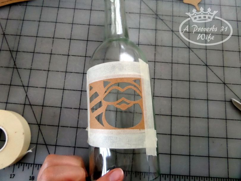 Painting a wine bottle