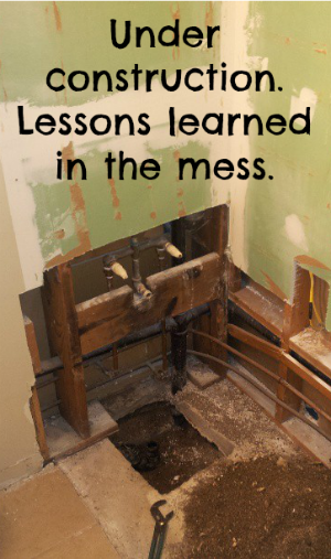 Lessons in patience. Learning to rejoice in the mess!