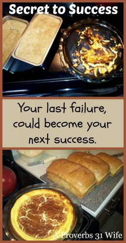 Your last failure could become your next success! Failure is the key to success.