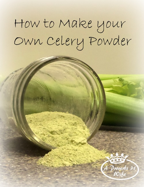 Celery Powder: How to Make Your Own and Why you should Use it