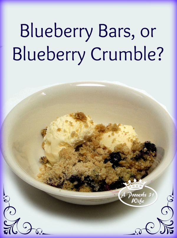 Whole wheat blueberry breakfast bars, crumbled and put on top of ice cream. This recipe is amazing!!!