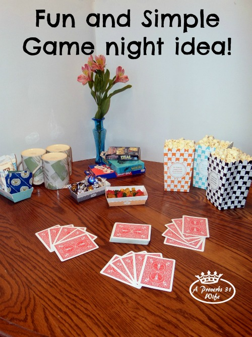 Simple entertaining ideas #2 Game night fun!
