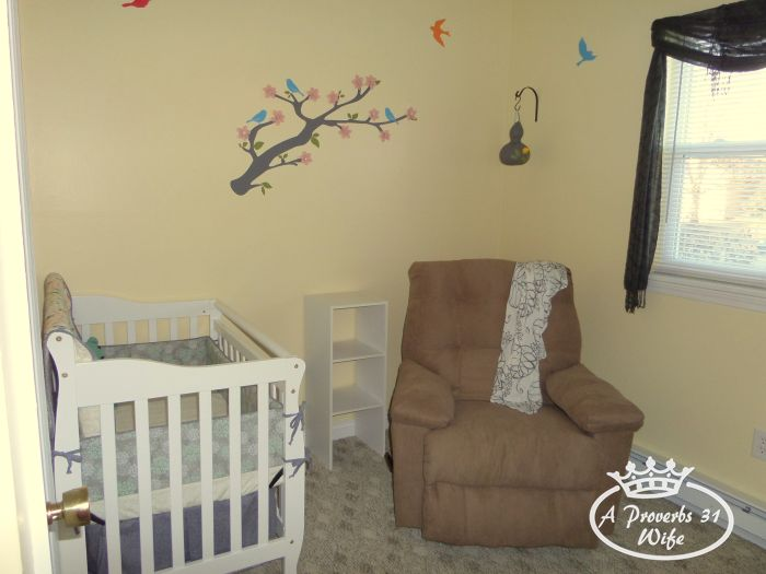 Setting up a baby nursery. Making the best of the little space we have.