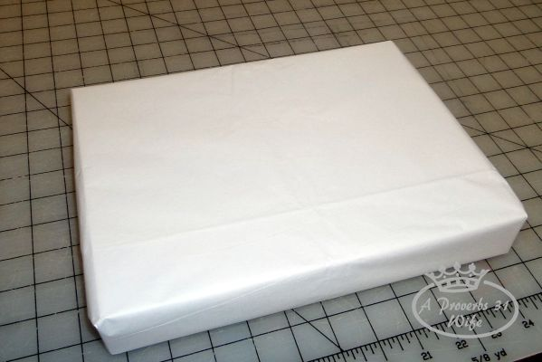 for simple and cheap gift wrap, use tissue paper.