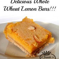 Deliciously healthy whole wheat lemon bars recipe! The perfect, not-too-sweet, not-too-sour treat!
