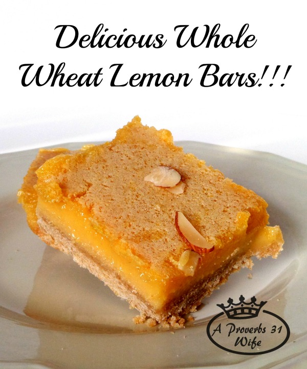 Healthy Whole Wheat Lemon Bars