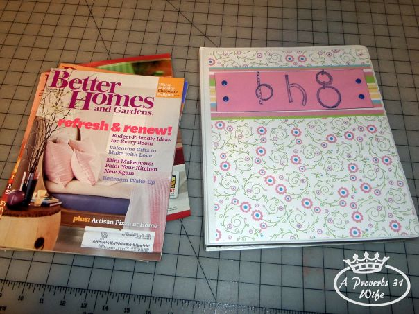 What to do with old magazines? Turn them into binders!!!