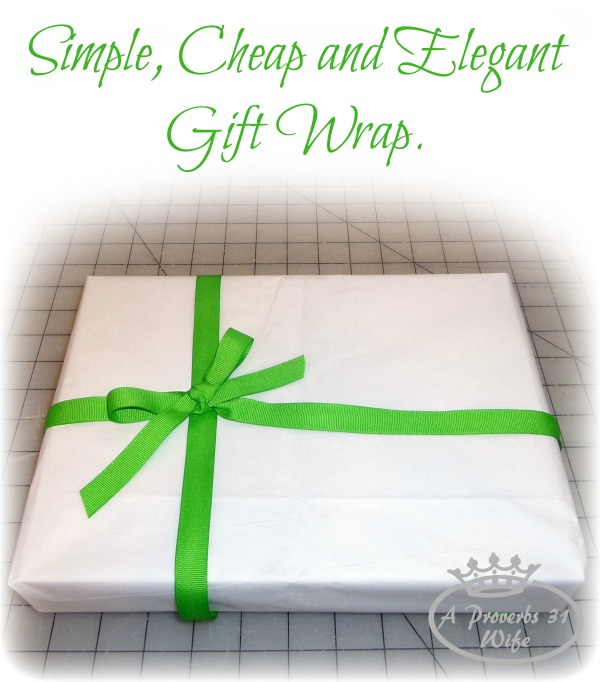 Simple and Cheap Gift Wrap