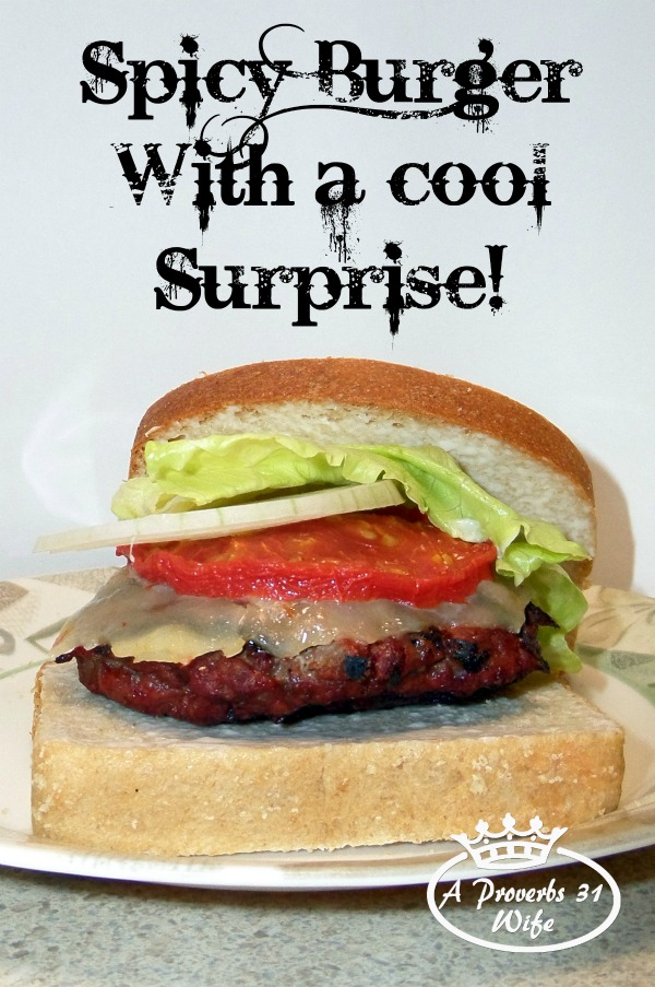 Spicy Burgers with a Cool Surprise