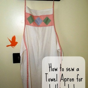 Make drying off a slippery wet baby easy with my pattern for Baby Towel Apron! Easy to sew.