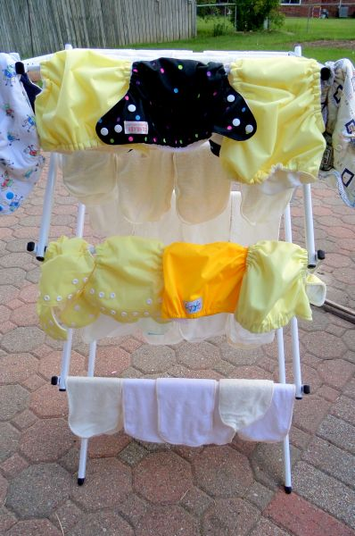 cloth diaper washing with soap nuts