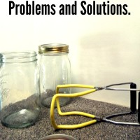 Common canning solutions and problems for pressure canning and hot water bath canning methods.