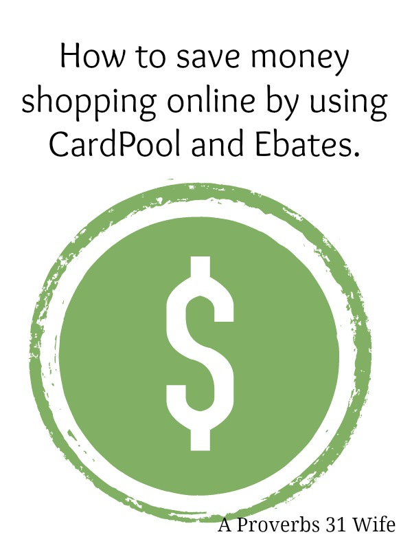 Saving Money Online Shopping with Cardpool and Ebates