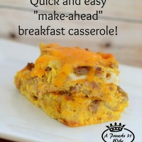 Quick and simple breakfast casserole that you make the night before, and bake in the morning!
