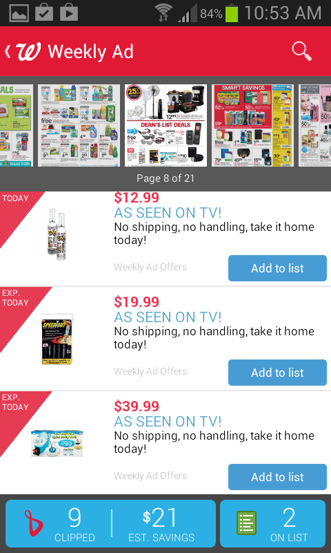 Walgreens weekly ad on mobile #shop