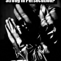 "The question every Christian needs to ask themselves in light of the developements in Iraq. ""Would I stand strong in persecution?"""