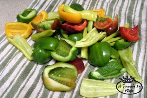 how to freeze peppers