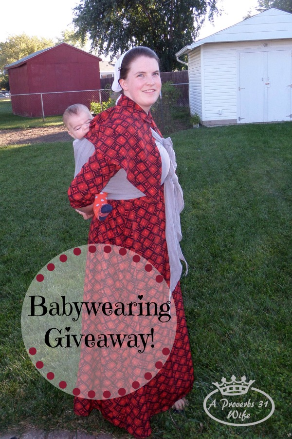 Simple Lightweight Wrap for Babywearing +Giveaway!!!