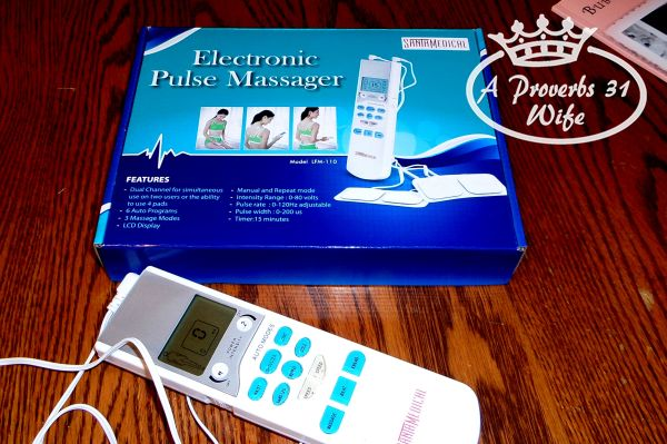 Using this tens unit is like I get a mini massage each evening!