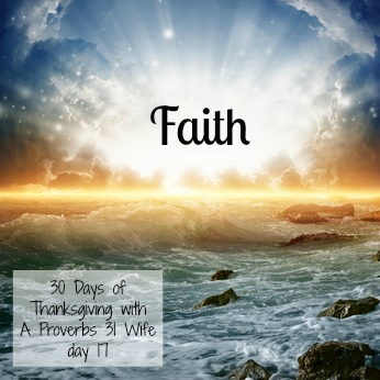Faith ~30 Days of Thanksgiving day 17