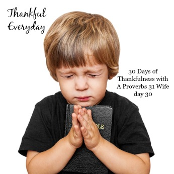 Thankful Everyday ~30 Days of Thanksgiving day 30