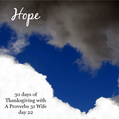 Hope ~30 Days of Thanksgiving day 22